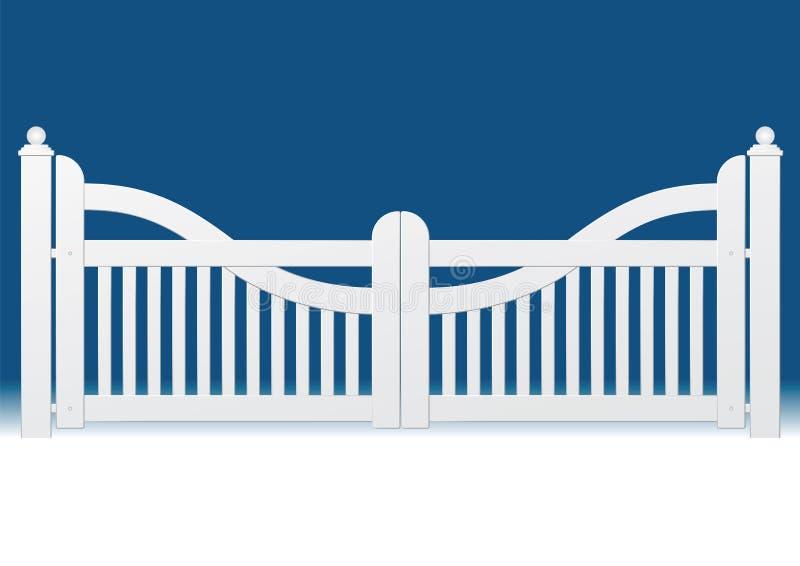 Witte poort royalty-vrije illustratie