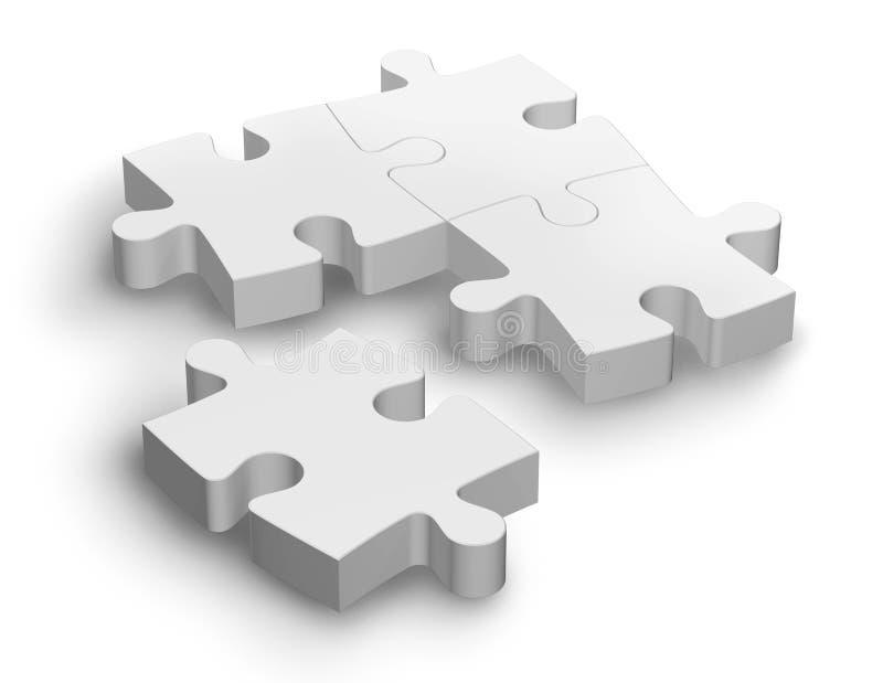 Witte puzzel vector illustratie
