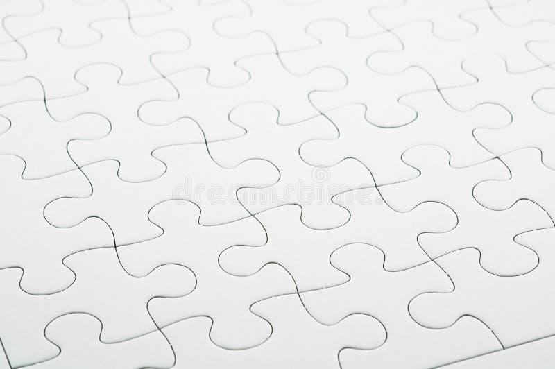 Witte puzzel royalty-vrije stock foto
