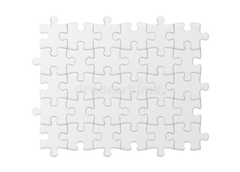 Witte Puzzel Lege eenvoudige achtergrond royalty-vrije illustratie