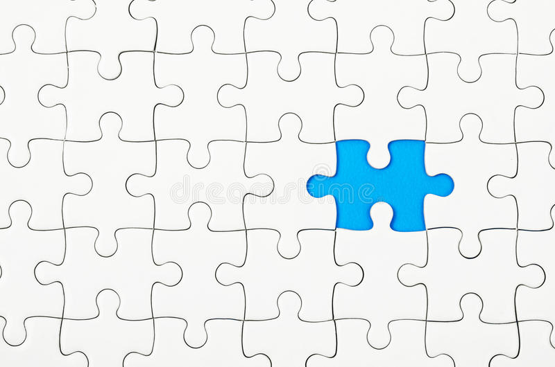 Witte puzzels royalty-vrije stock afbeeldingen