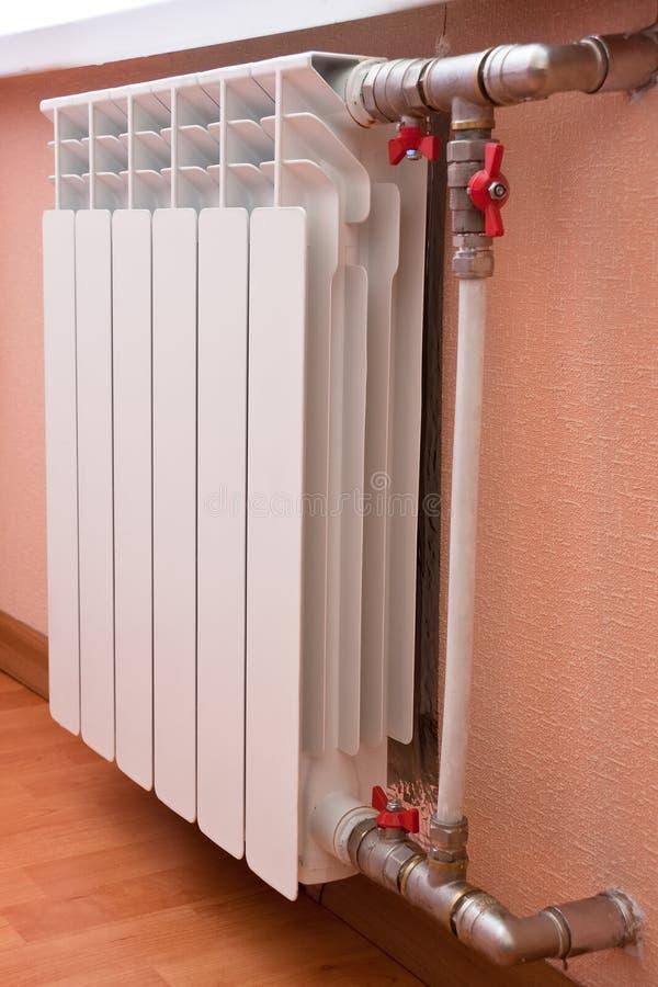 Witte radiator stock afbeelding