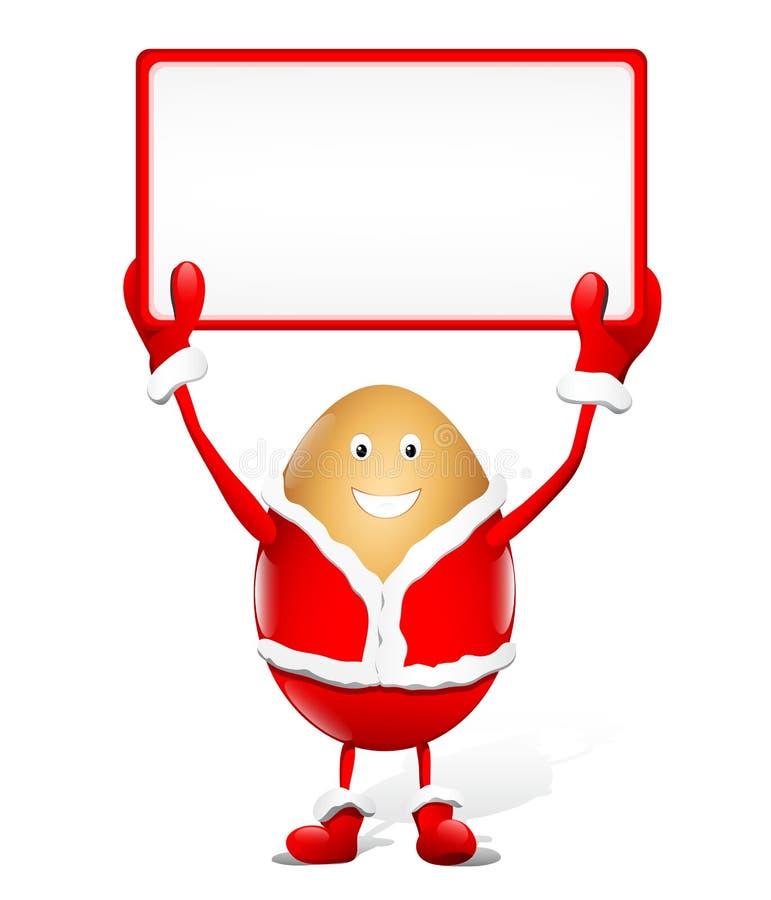 Witte rechthoek voor de reclame van Kerstmis royalty-vrije illustratie