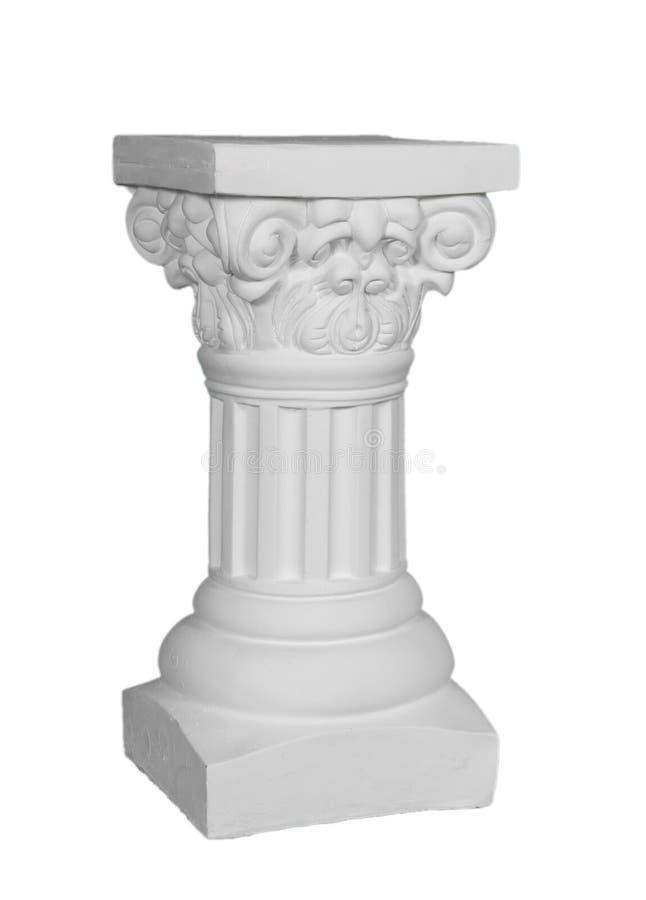 Witte Roman Pijler stock foto