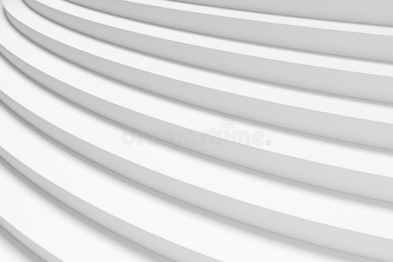 Witte ronde stijgende tredenclose-up onder licht vector illustratie