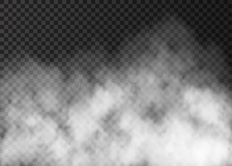 Witte rooktextuur op transparante achtergrond royalty-vrije illustratie
