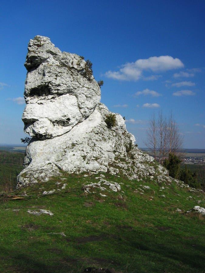 Witte rotsen royalty-vrije stock afbeelding