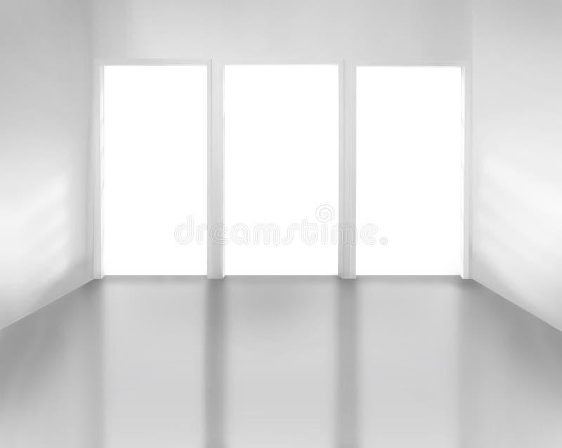 Witte ruimte royalty-vrije stock afbeeldingen