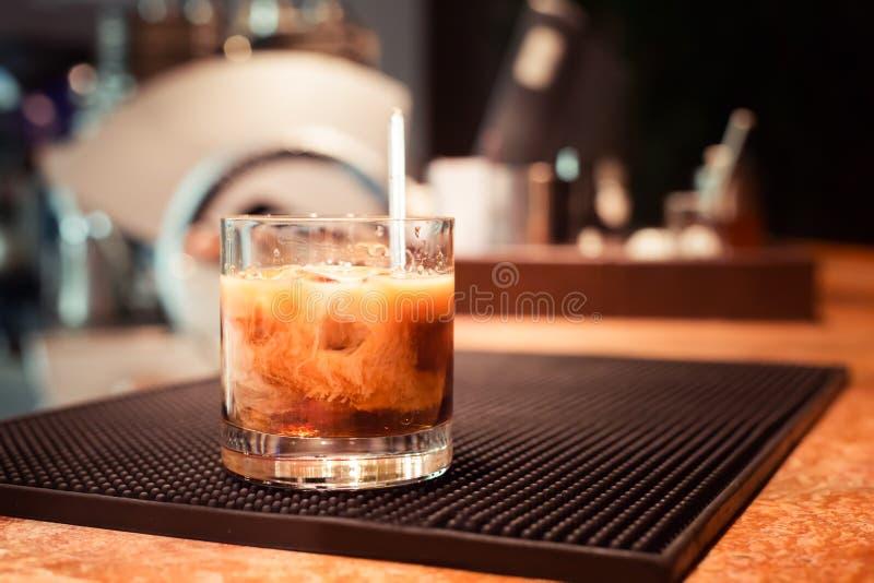 Witte Russische cocktail stock fotografie