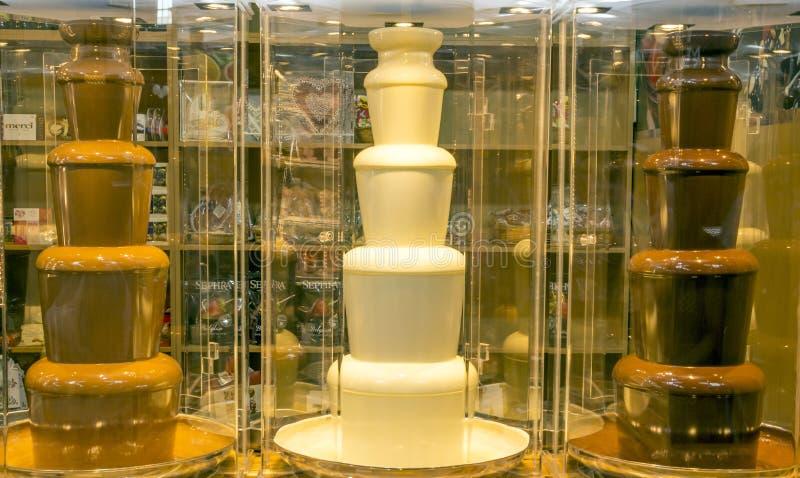 Witte Scherpe Chocolade royalty-vrije stock afbeelding