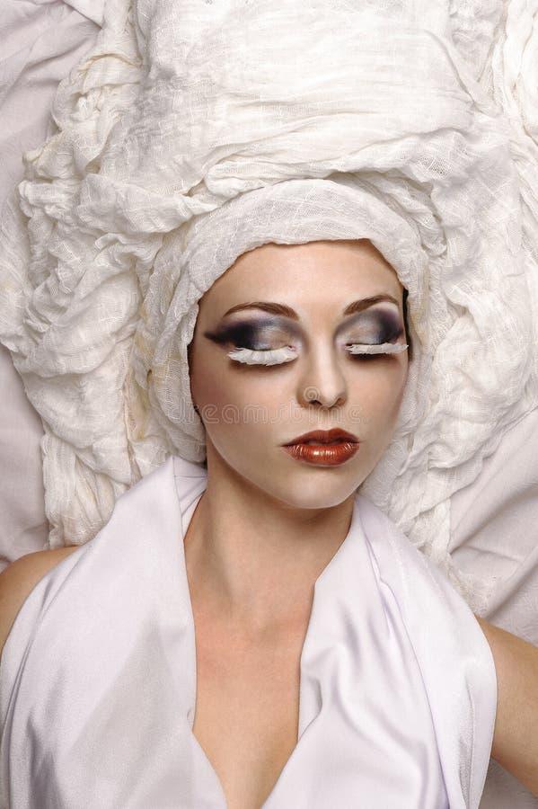 Witte schoonheidsfoto stock foto