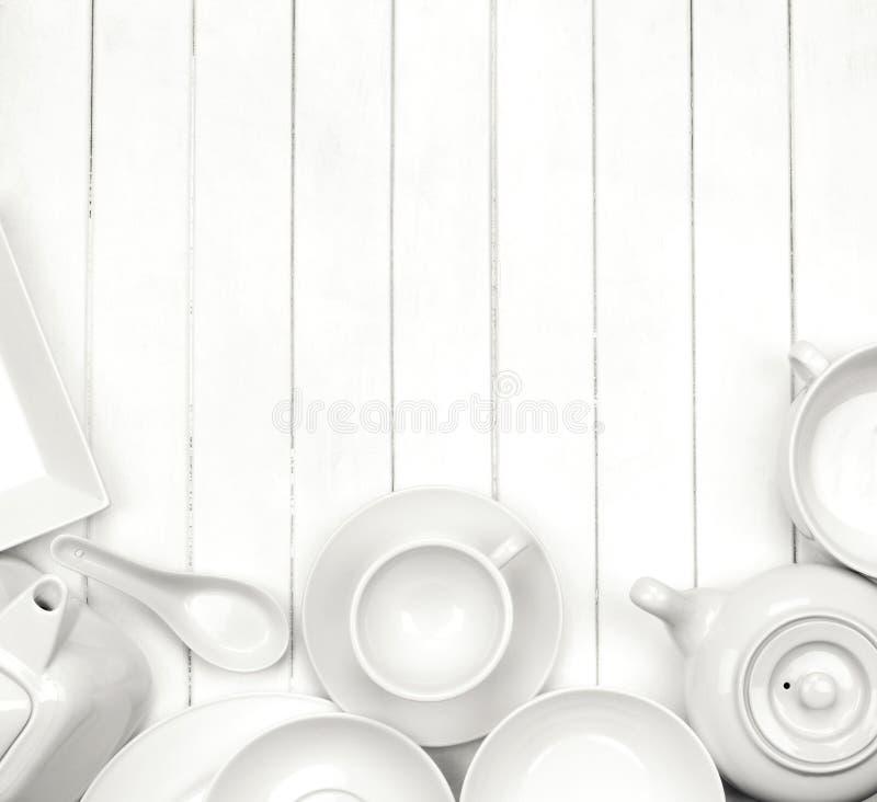 Witte schotels royalty-vrije stock fotografie