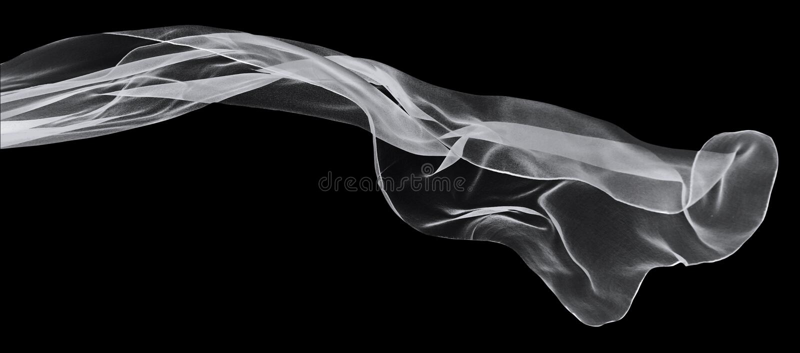 Witte sjaal op een zwarte achtergrond stock fotografie