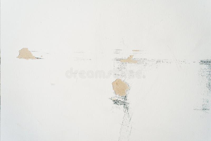 Witte sjofele muur Oude sjofele achtergrond royalty-vrije stock afbeelding