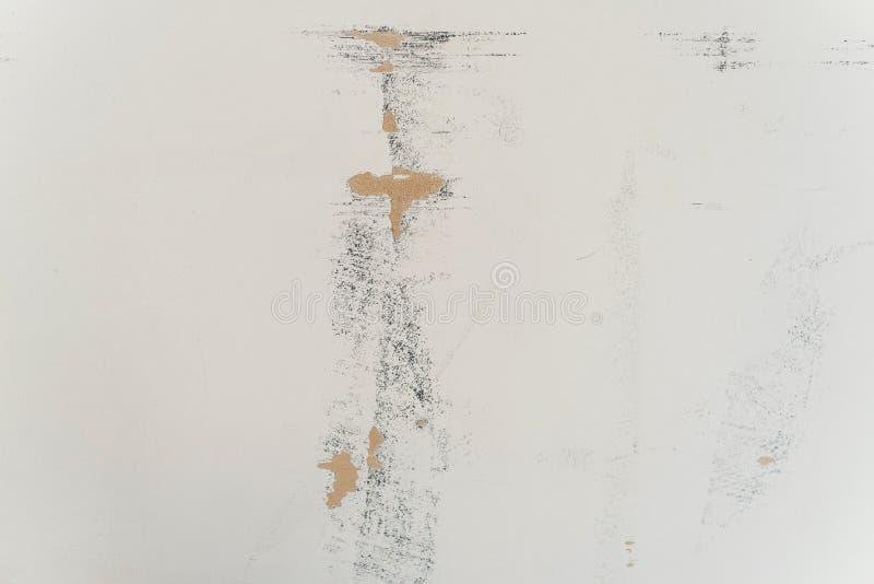 Witte sjofele muur Oude sjofele achtergrond stock foto's