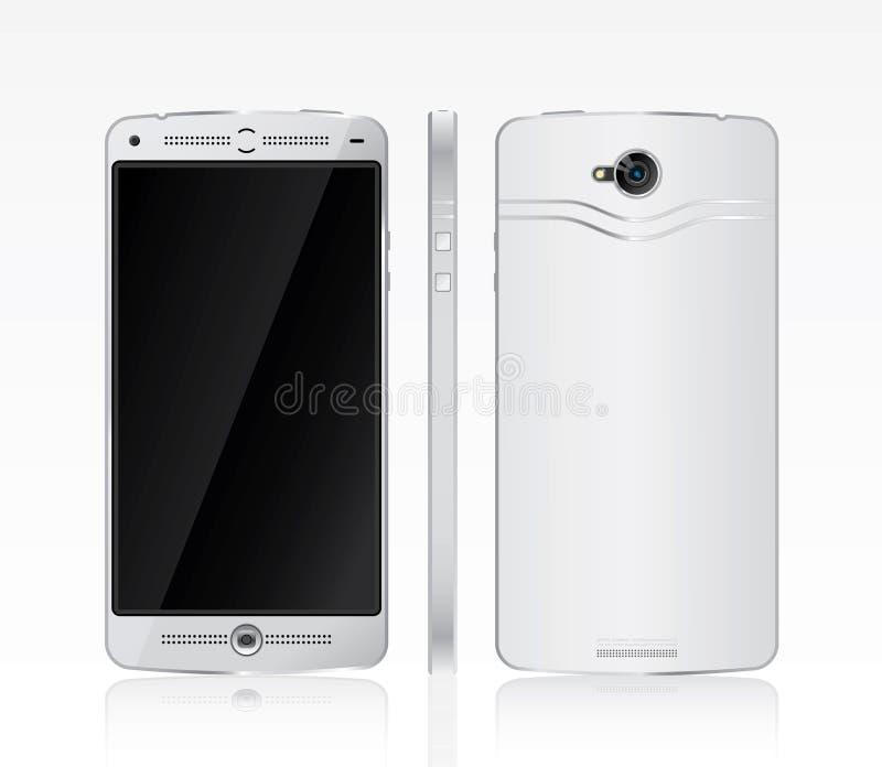 Witte slimme telefoon royalty-vrije illustratie