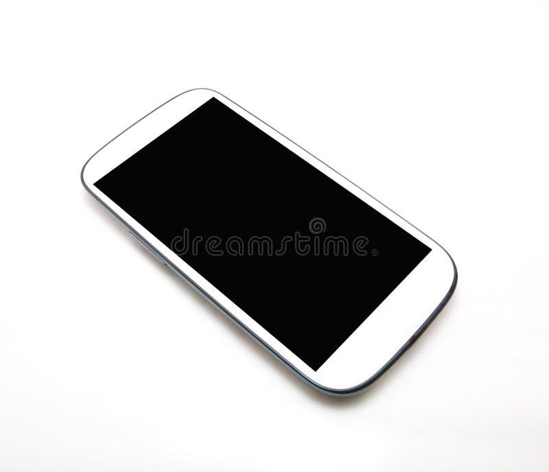 Witte slimme telefoon stock foto's