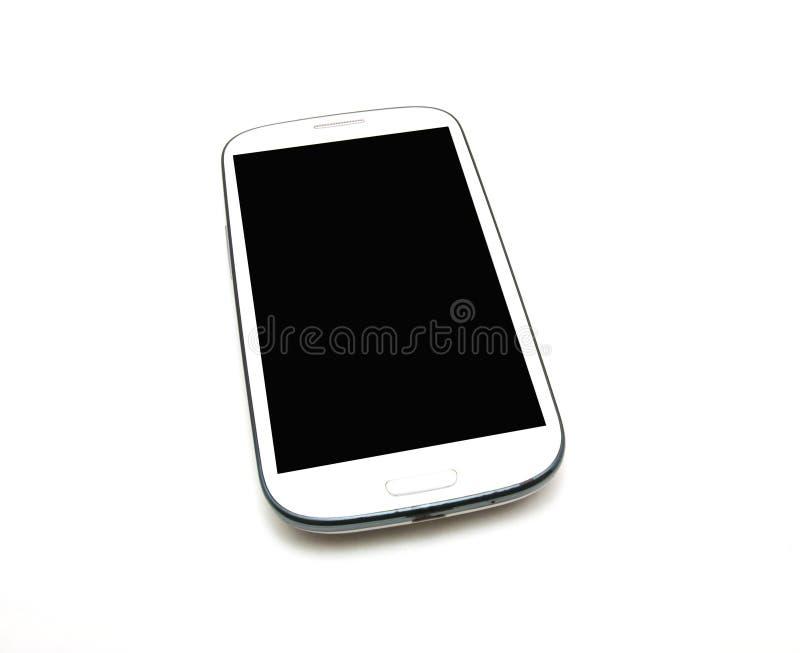 Witte slimme telefoon royalty-vrije stock afbeeldingen