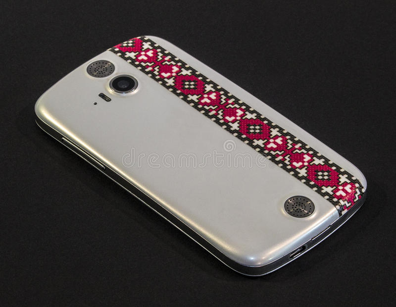 Witte Smartphone royalty-vrije stock foto's