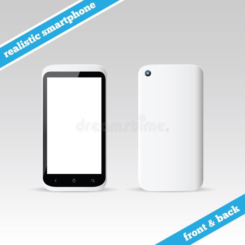 Witte smartphone voor en achtervector stock illustratie