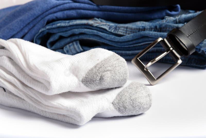 Witte Sokken royalty-vrije stock afbeeldingen