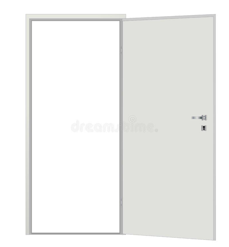 Witte spatie geopende deur royalty-vrije illustratie
