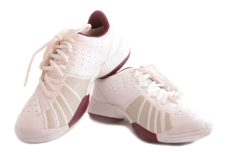 Witte sportschoenen royalty-vrije stock afbeeldingen