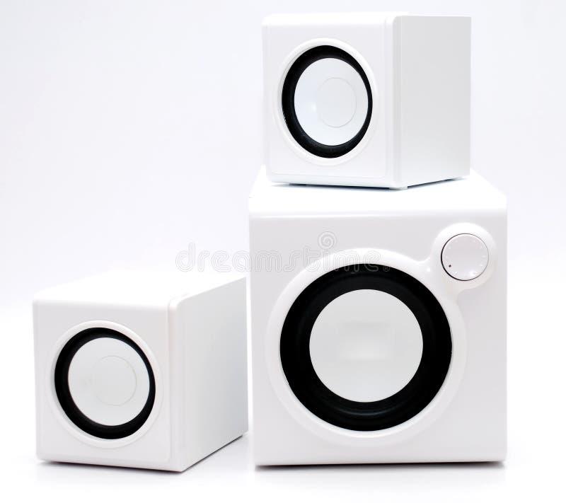Witte spreker drie royalty-vrije stock afbeelding