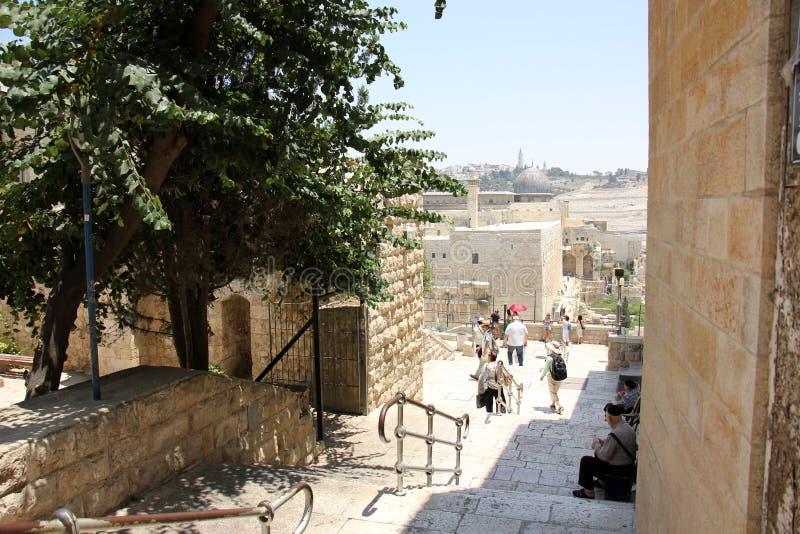 Witte stad Jeruzalem stock foto's