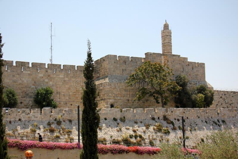Witte stad Jeruzalem stock afbeeldingen