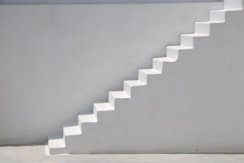 Witte stappen stock afbeelding