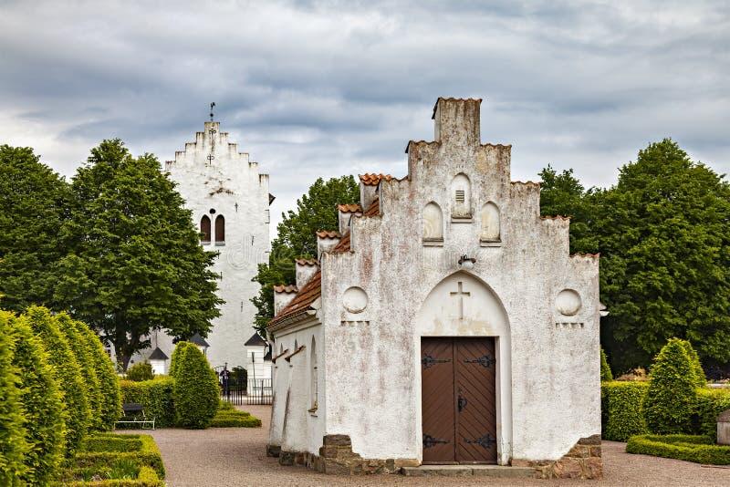 Witte steenkerk royalty-vrije stock foto's
