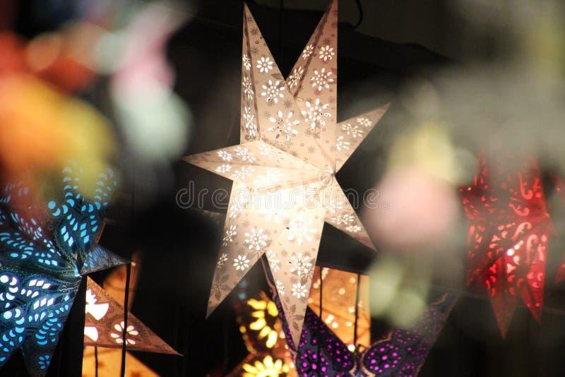 Witte ster royalty-vrije stock afbeeldingen