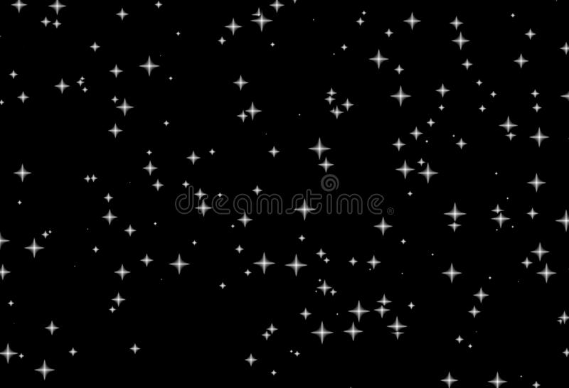 Witte sterren zwarte nacht royalty-vrije illustratie