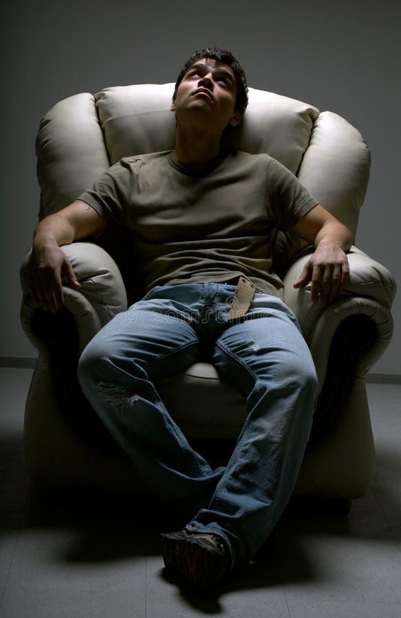Witte stoel stock afbeelding