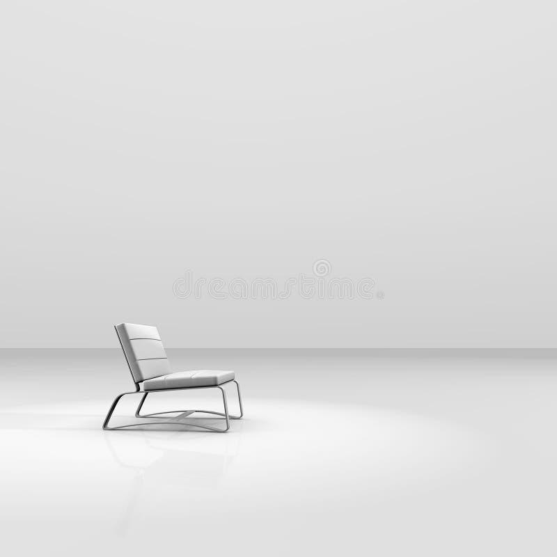 Witte stoel vector illustratie