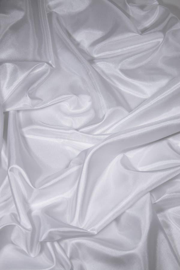 Witte Stof 2 van het Satijn/van de Zijde royalty-vrije stock afbeelding