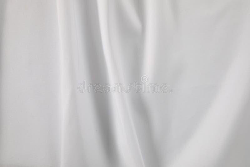 Witte stof met vouwen stock foto