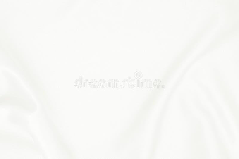 Witte stoffentextuur voor achtergrond, mooi patroon van zijde of linnen stock foto's