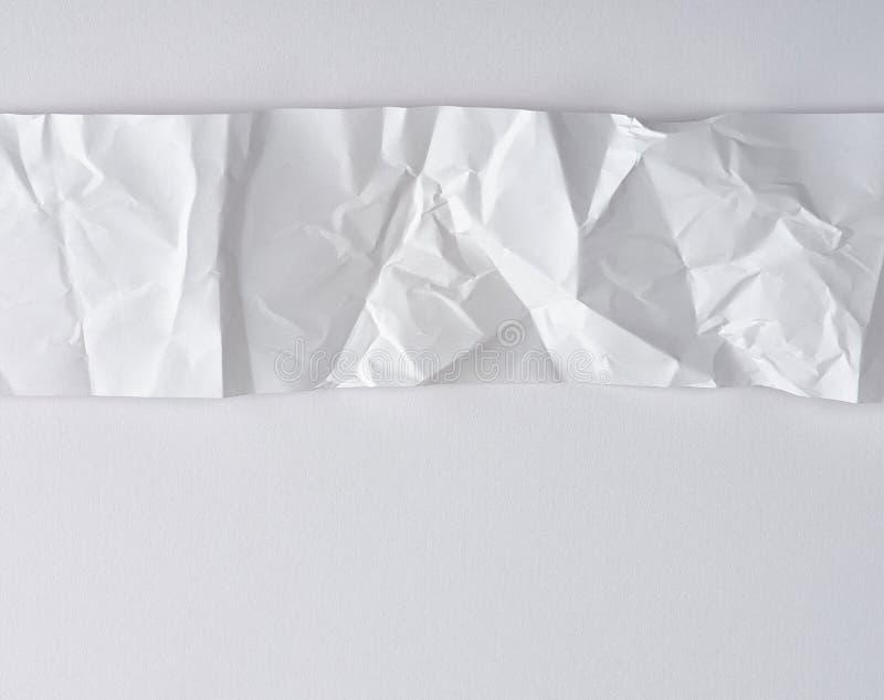 witte strook van document op een witte achtergrond, exemplaarruimte royalty-vrije stock foto's