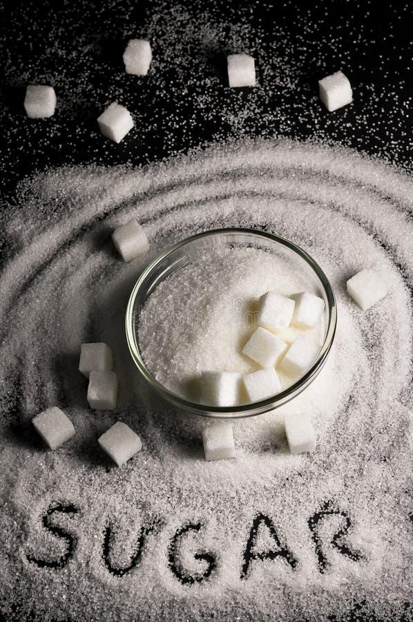 Witte suiker royalty-vrije stock foto