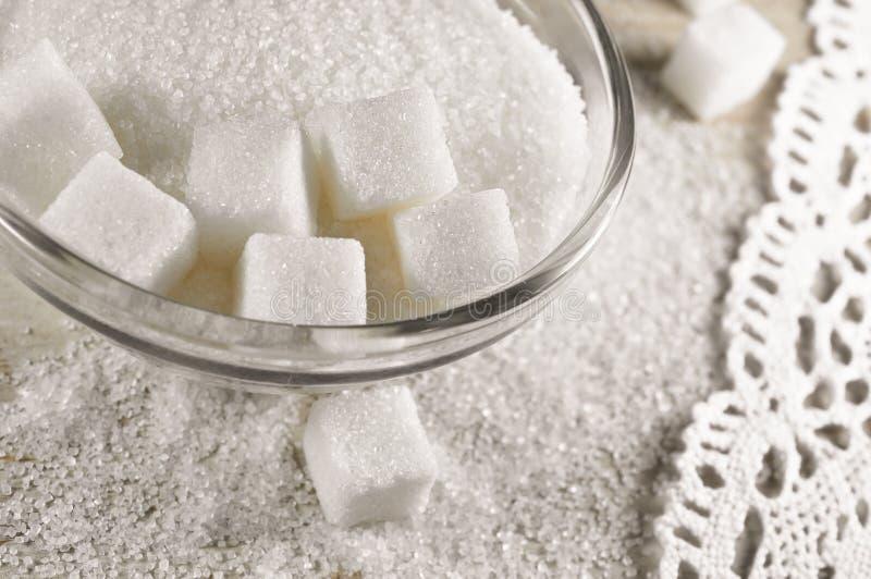Witte suiker royalty-vrije stock afbeeldingen