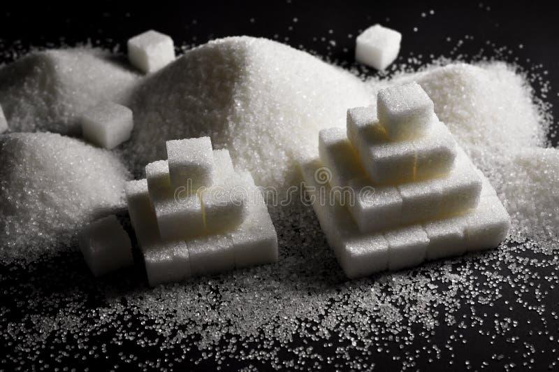 Witte suiker stock afbeeldingen