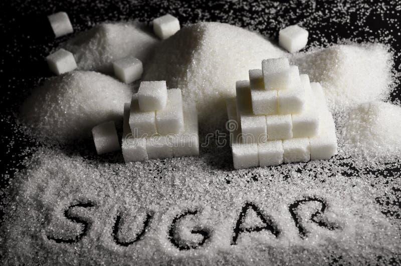 Witte suiker royalty-vrije stock afbeelding