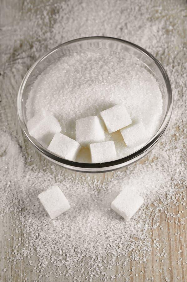 Witte suiker royalty-vrije stock fotografie