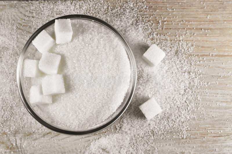 Witte suiker stock foto's