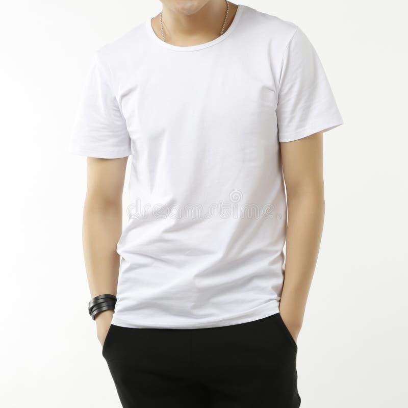 Witte T-shirt stock foto
