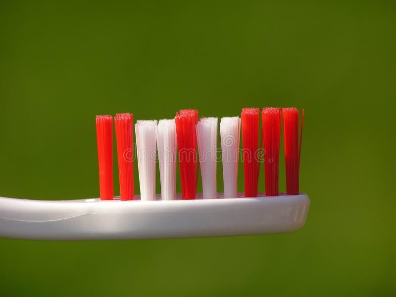 Witte tandenborstel royalty-vrije stock afbeelding