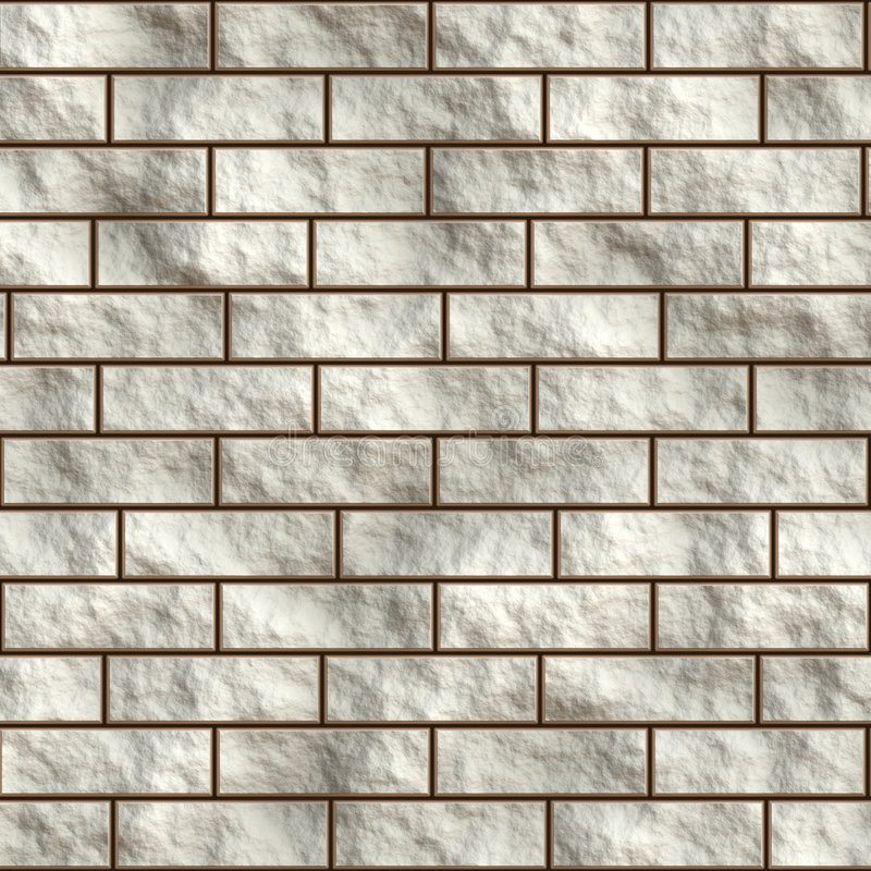Witte tegelmuur stock illustratie