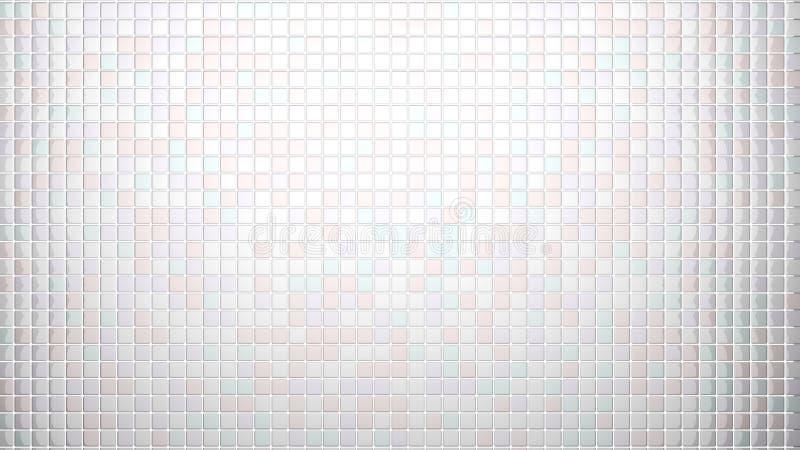 Witte tegels frontale mening als achtergrond vector illustratie